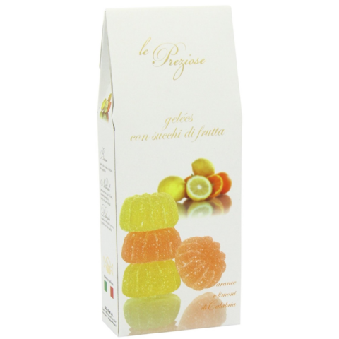 Orange & Lemon Italian Fruity Jellies Sweets Le Preziose 200g